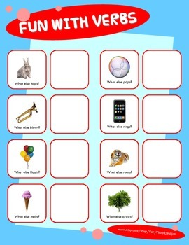 VERBS ACTION WORD MATCH & SORT ACTIVITY w PECS autism speech therapy printable
