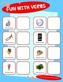 VERBS ACTION WORD MATCH & SORT ACTIVITY w PECS autism spee
