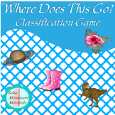 """""""What Goes Where?""""    Classification Shelf Activity"""
