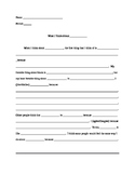 """What I Think About (Blank)"" worksheet / template"