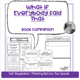 """""""What If Everybody Said That"""": Lesson on self regulation &"""