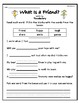 """""""What Is a Friend?"""" Guided Reading Program Work"""