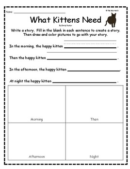 """""""What Kittens Need"""" Guided Reading Program Activities"""