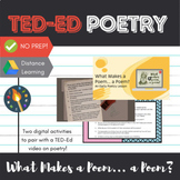 """What Makes a Poem... a Poem?"" TED-Ed Early Poetry Unit Activity"