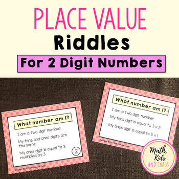 'What Number Am I?' Place Value Task Cards (2 DIGIT NUMBERS)