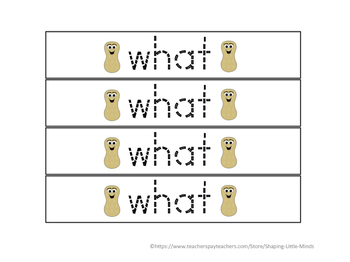 """What Nut"" ~ Sight Word ""What"""