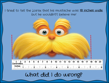 """What Went Wrong?"" Read Across America themed Measurement Problem Solving"