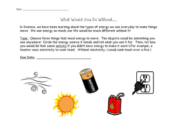'What Would You Do?' -  Energy Sources Activity