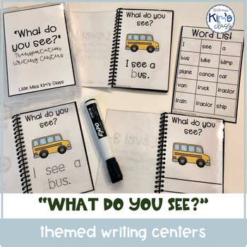 """""""What do you see?"""" Writing Centers for Special Ed or Kindergarten"""