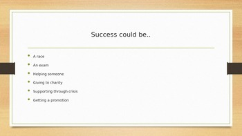 'What is Success?' Presentation for Assembly or Form Time