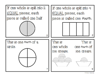 """""""What is a fourth?"""" Fraction Book"""