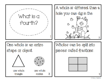 """What is a fourth?"" Fraction Book"