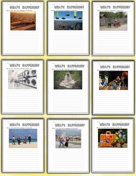 """What's Happening?"" – Creative Writing Journal/Worksheet Activities"