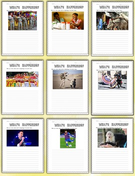 """What's Happening?"" – Creative Writing Journal/Worksheet Activities"