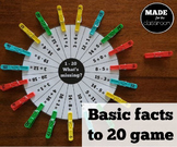What's Missing Basic facts to 20 game