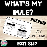 """What's My Rule?"" Exit Slip"