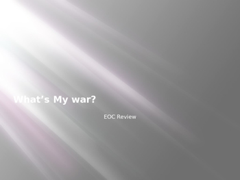 """""""What's My War?"""" US History STAAR EOC Review"""