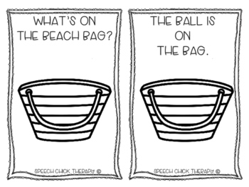 """What's ON the beach bag?"" Spatial Concpet booklet"