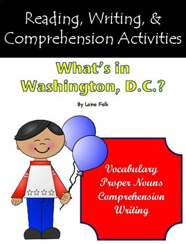 """""""What's in Washington, D.C.?"""" Activities for Guided Reading & Writing"""
