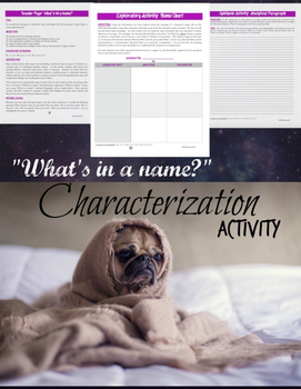 Character Names:  Literary Elements, Characterization, & Analysis {COMMON CORE}