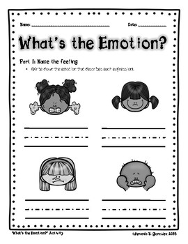 """What's the Emotion?"" Activity"