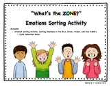 """What's the ZONE?"" Student Sorting Activity"