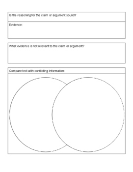 """""""What the Text Means"""" Informational Graphic Organizer"""