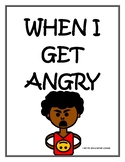 """""""When I Get Angry"""" Yelling Social Story"""