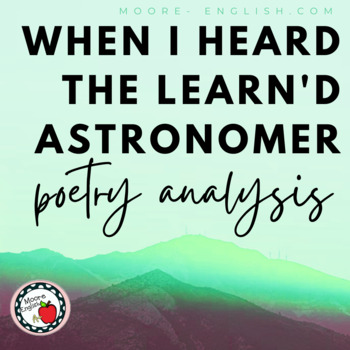 """""""When I Heard the Learn'd Astronomer"""" Reading Questions"""