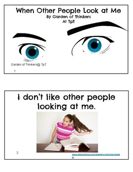 """""""When Other People Look at Me"""" Social Skills Story"""