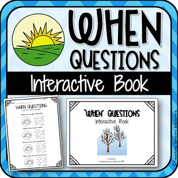 'When' Questions Interactive Book for Students with Autism
