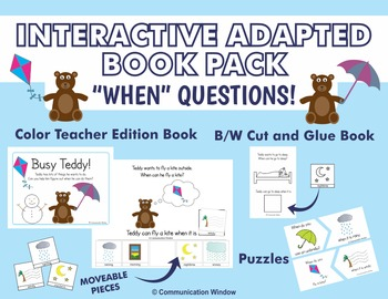 """""""When"""" Questions Interactive Adapted Book Pack"""