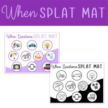 """""""When"""" Questions Splat Mats"""
