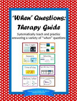"""""""When"""" Questions: Therapy Guide"""