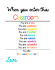 """When You Enter this Classroom..."" Poster"