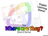 """Where Are They?"" English Learning Boardgame"