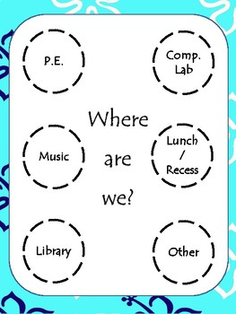 """""""Where Are We?"""" Beach Themed Classroom Sign"""