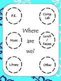 """Where Are We?"" Beach Themed Classroom Sign"