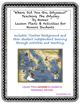 "The Odyssey Unit: ""Where Did You Go, Odysseus?"" Lessons & Activities"