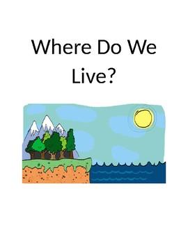 """Where Do We Live"" land vs sea book and visuals"