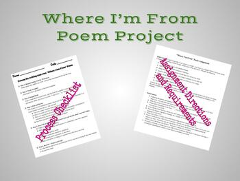 """""""Where I'm From"""" Poem Project"""