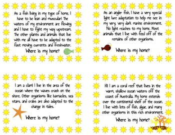 """""""Where Is My Home?"""" Biome Task Card Review"""