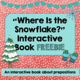 """Where Is the Snowflake?"" preposition book FREEBIE"
