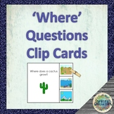 'Where' Question Clip Cards