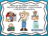 """""""Where are the Animals?"""" BIG Pictures; Interactive books i"""