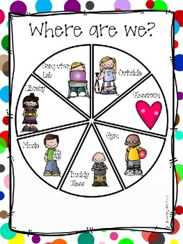 """""""Where are we?"""" Classroom Door Sign"""