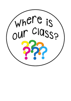 'Where are we?' class hanging
