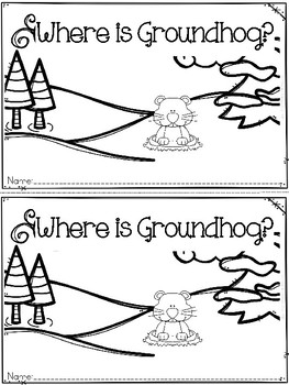"""Where is Groundhog?"" (Groundhog Day/February Emergent Reader Dollar Deal)"