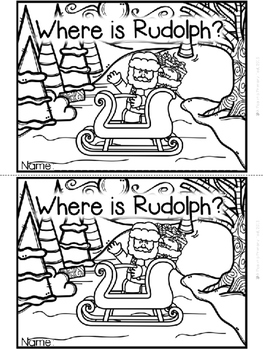 """""""Where is Rudolph?"""" Emergent Reader (A Christmas/December"""