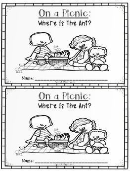 """""""On a Picnic: Where is the Ant?"""" - Prepositions Book"""